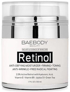 Baebody Retinol Moisturizer Cream for Face and Eye Area - With 2.5% Active Retinol product image