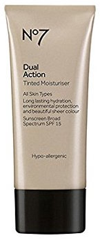 Boots No7 Dual Action Tinted Moisturiser Fair product image