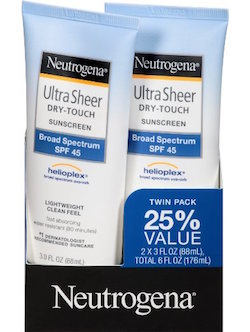 Neutrogena Ultra Sheer Dry-Touch Sunscreen Broad Spectrum SPF 45 product image