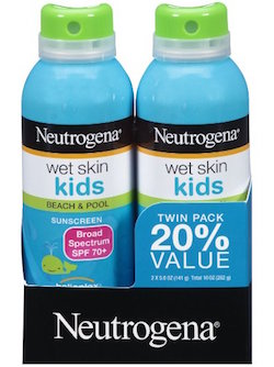 Neutrogena Wet Skin Kids Sunscreen Spray product image